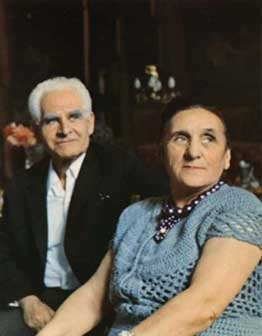 Lado Gudiashvili and his spouse Nina Gudiashvili